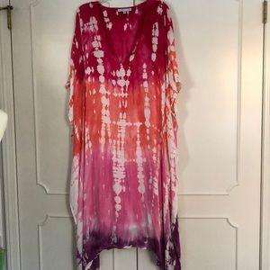 Young fabulous & broke tie dye maxi dress caftan